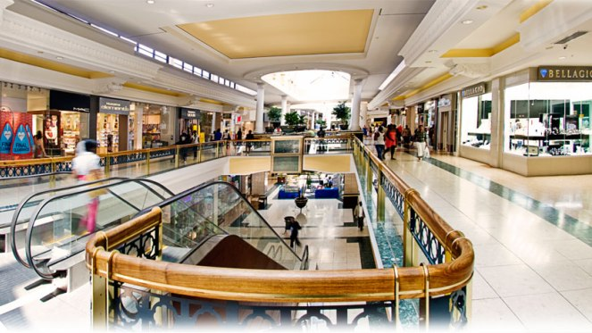 cresta mall inside the mall with people and shops